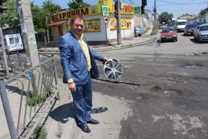 Общественники осмотрели состояние дорог в Симферополе в преддверии дня города