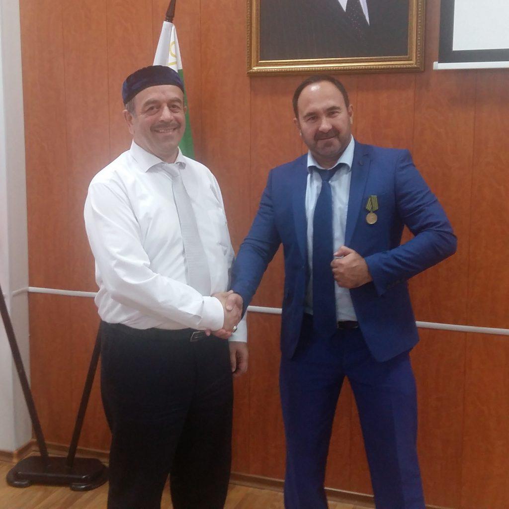 Руководитель Регионального центра общественного контроля в сфере ЖКХ ЧР Солтаев Мансур  награжден  медалью «За заслуги в развитии гражданского общества»