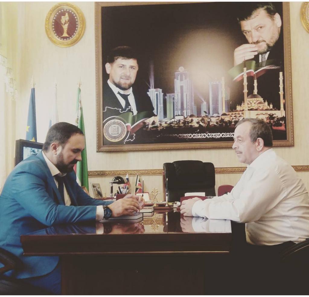 Руководитель Регионального центра «ЖКХ Контроль»   по ЧР Мансур Солтаев  встретился с уполномоченным по правам человека в республике Нурди Нухажиевым