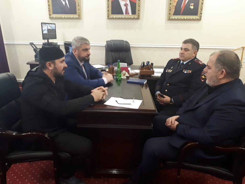 Мансур Солтаев  встретился с первым заместителем  мэра г.Грозный