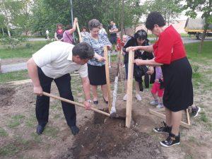 День ТОС в Калуге отметили посадкой 100 деревьев
